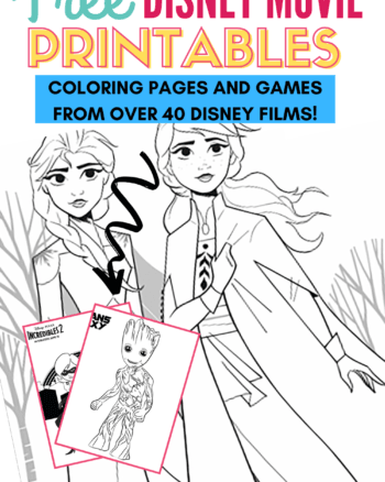 Free Disney Coloring Pages from 40 Disney Movies