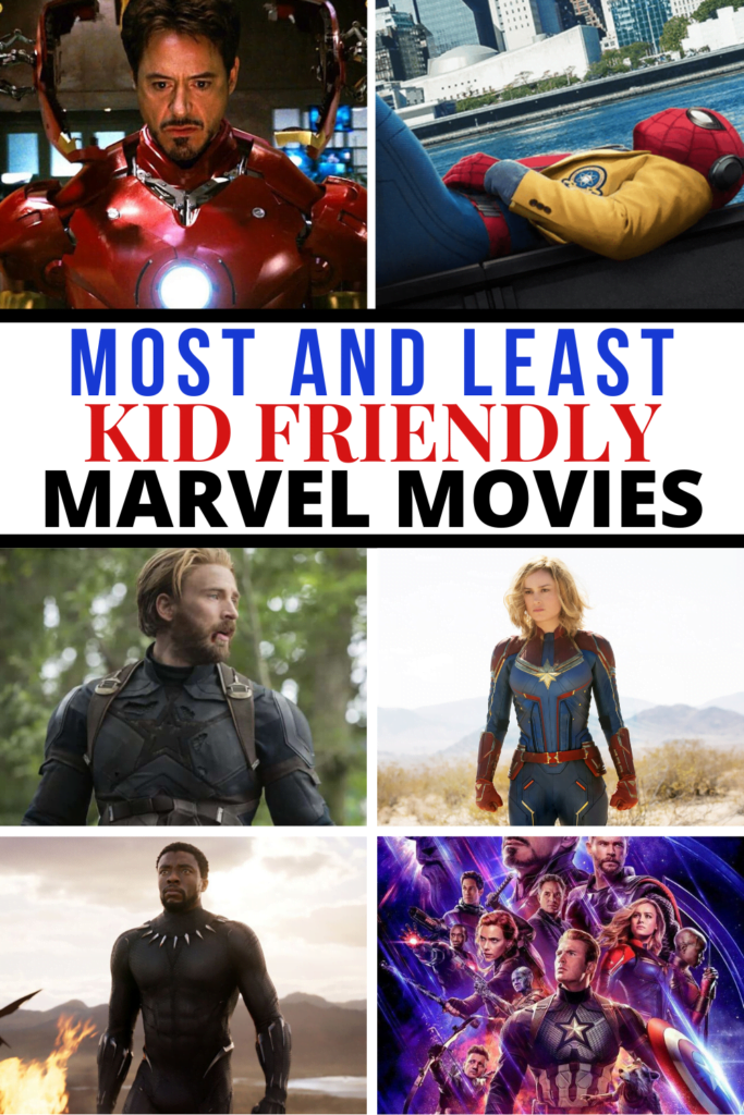 Most and Least Kid Friendly Marvel Movies
