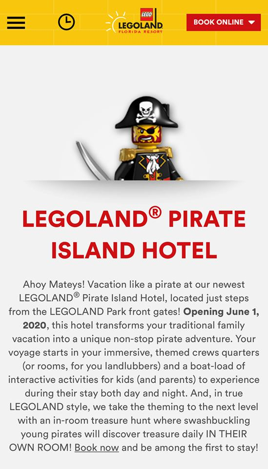 Book Reservations for Pirate Island Hotel
