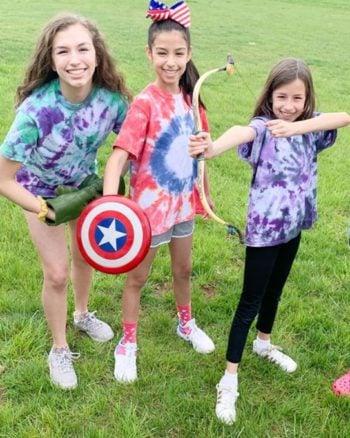 DIY Avengers Tie Dye Shirts