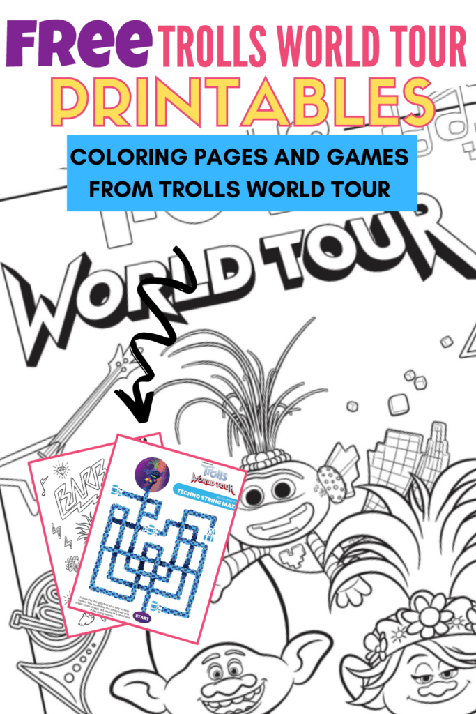 Trolls World Tour Coloring Pages and Games