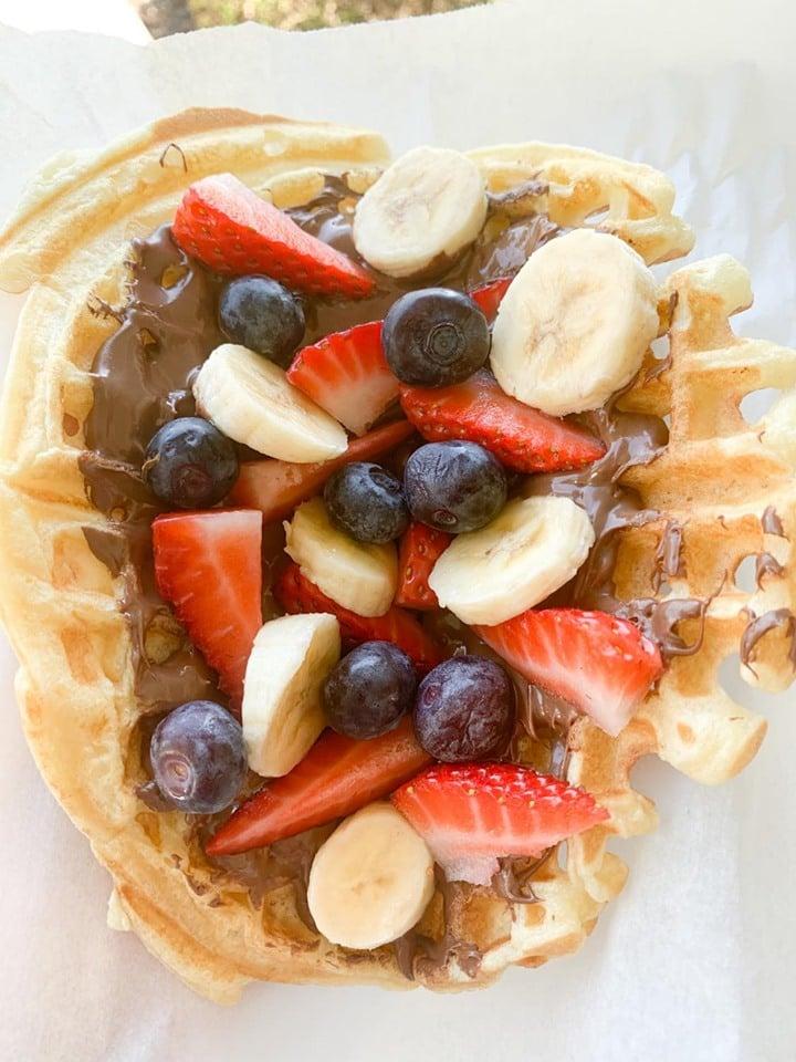 Copycat Fruit and Nutella Waffle Recipe
