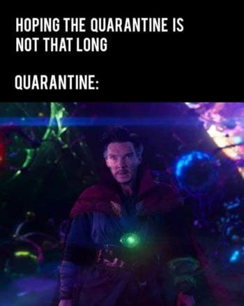 Doctor Strange Quarantine Meme
