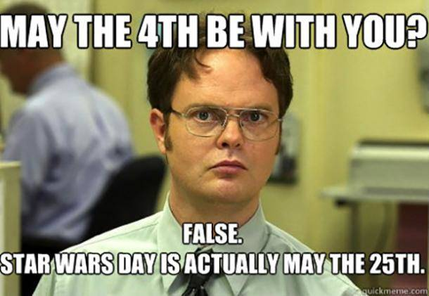 Dwight Schrute May the Fourth Meme