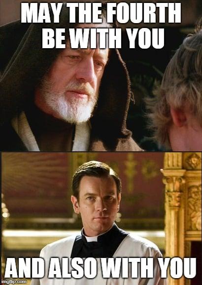 Funny May the 4th Catholic Meme