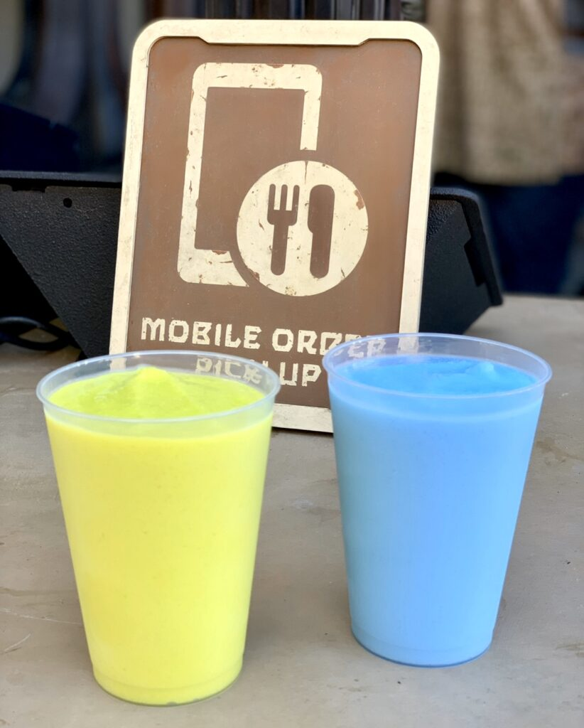 Blue and Green Milk in Galaxy's Edge Disneyland