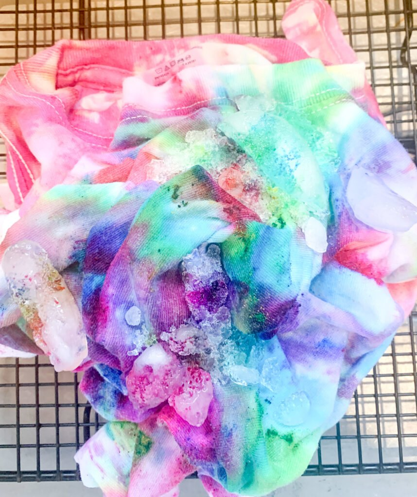 Ice Tie Dye Technique