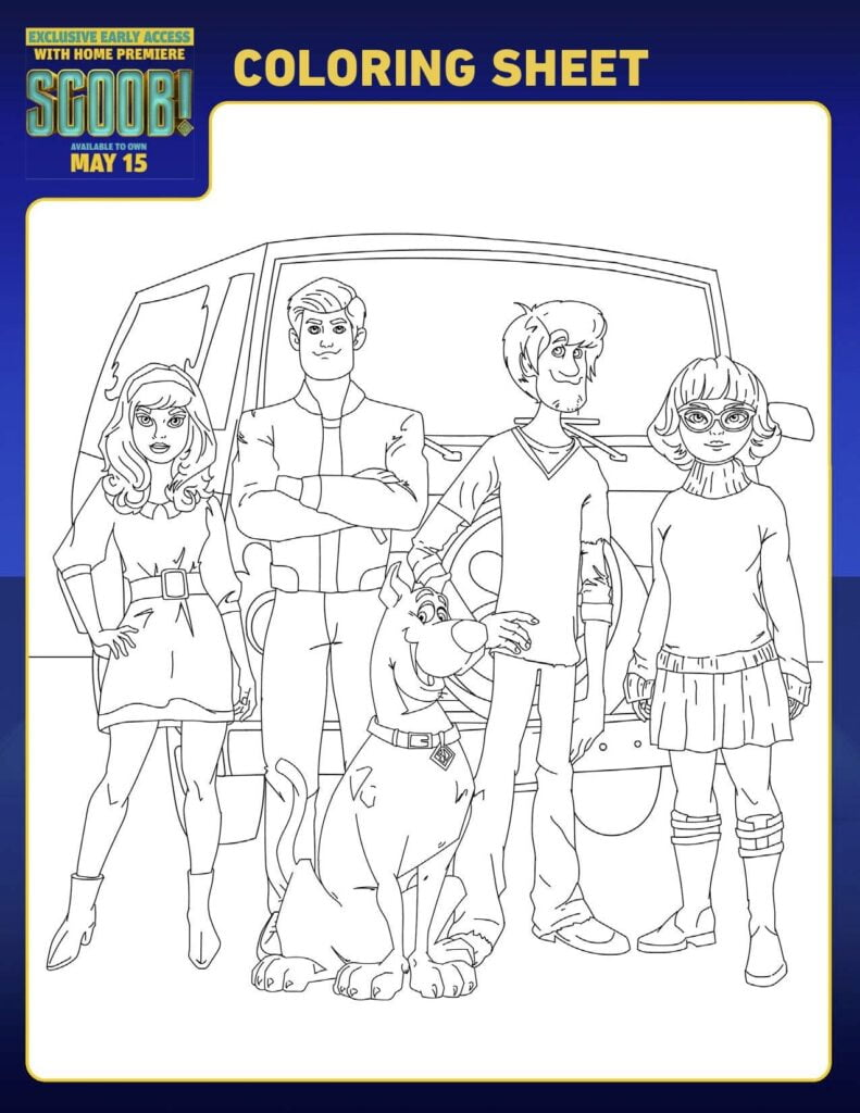 Scoob Gang Coloring Page