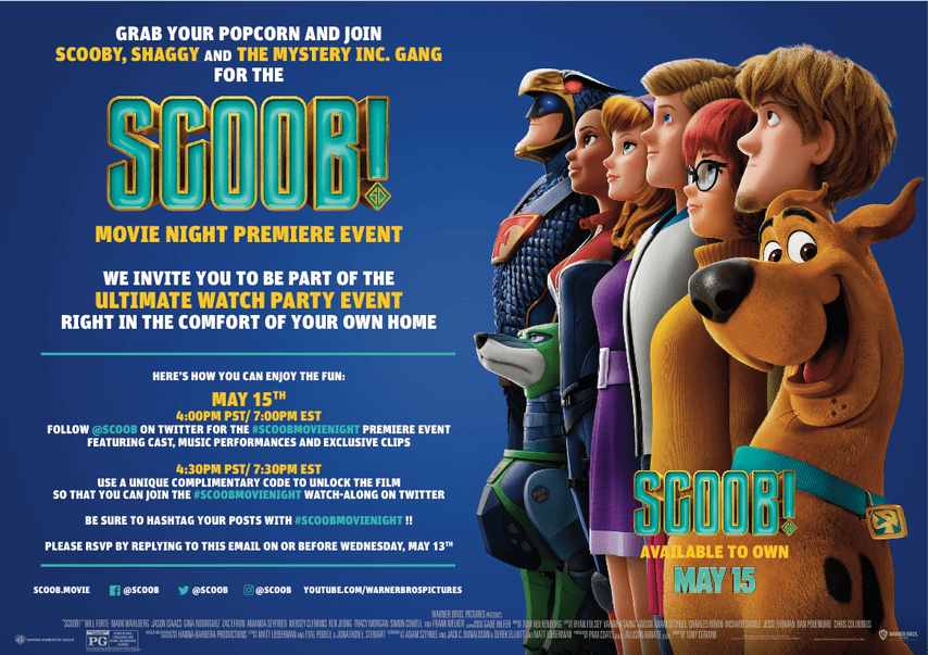 Scoob Movie Night Premiere