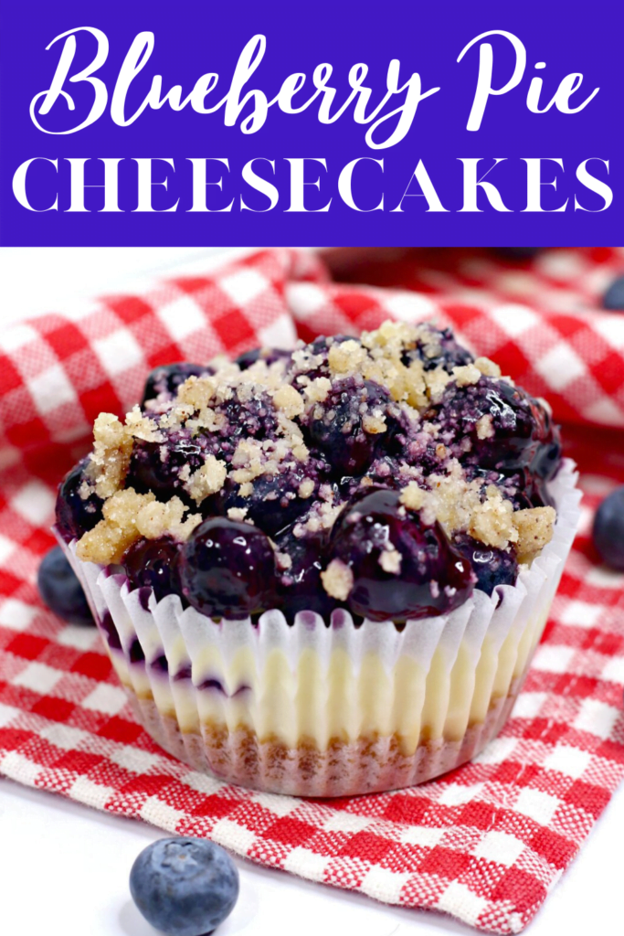 Blueberry Pie Mini Cheesecakes