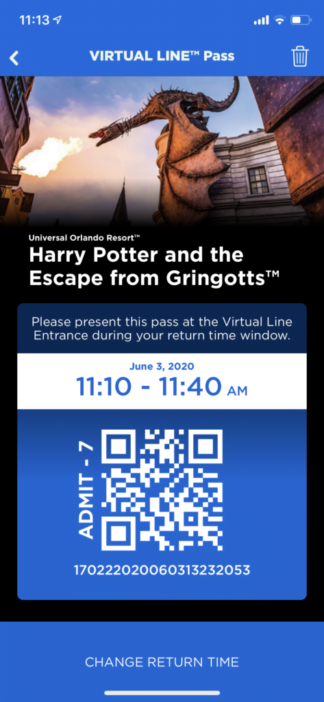 Universal Orlando Virtual Queue
