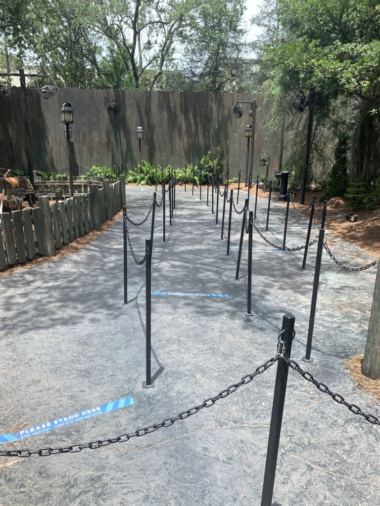 Queue Markers at Universal Orlando on Hagrid's