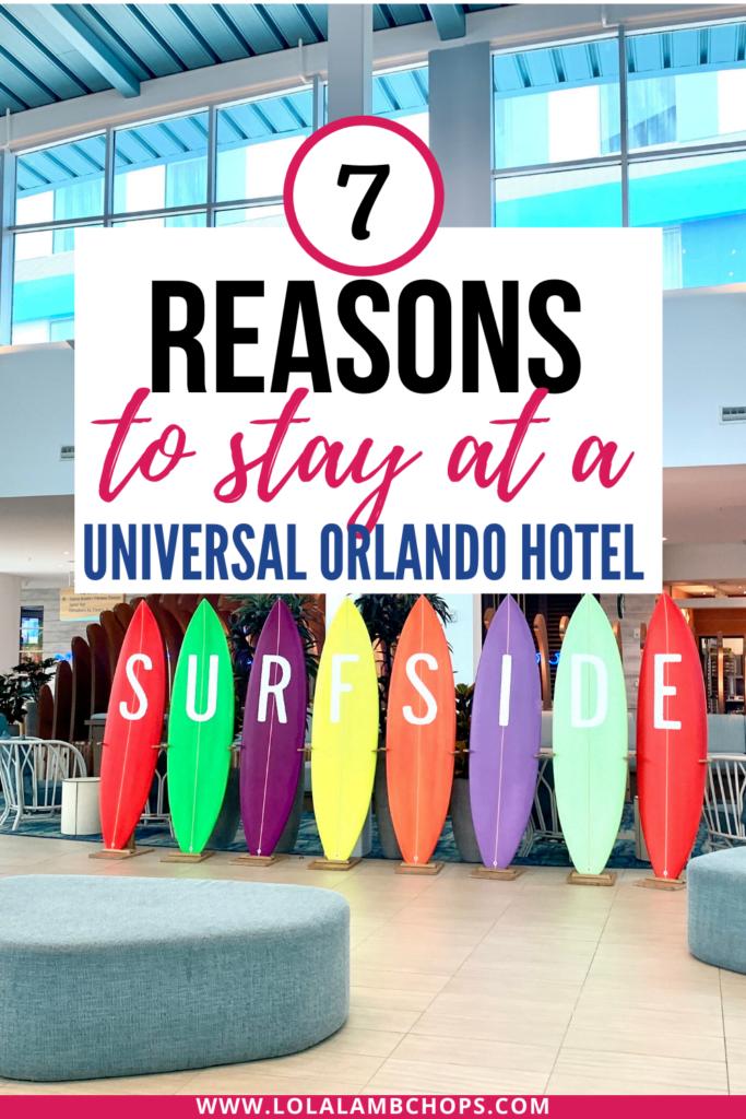 Universal Orlando Hotel Benefits