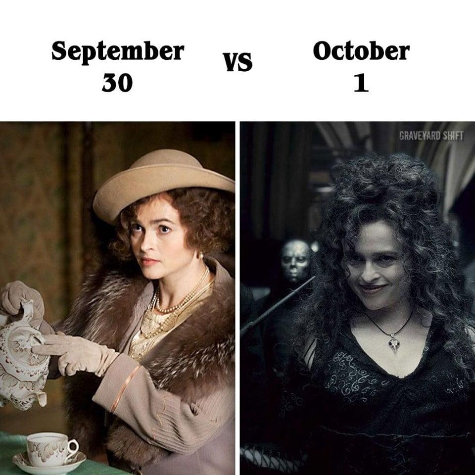 Helena Bonham Carter October Meme