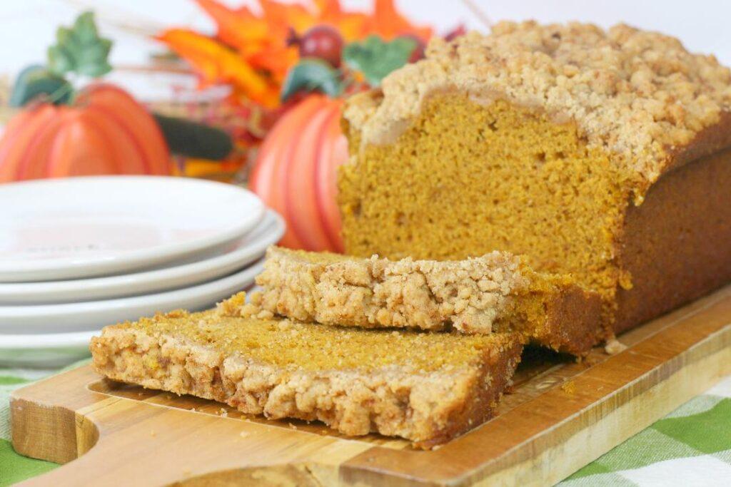 Pumpkin Bread Recipe with Streusel