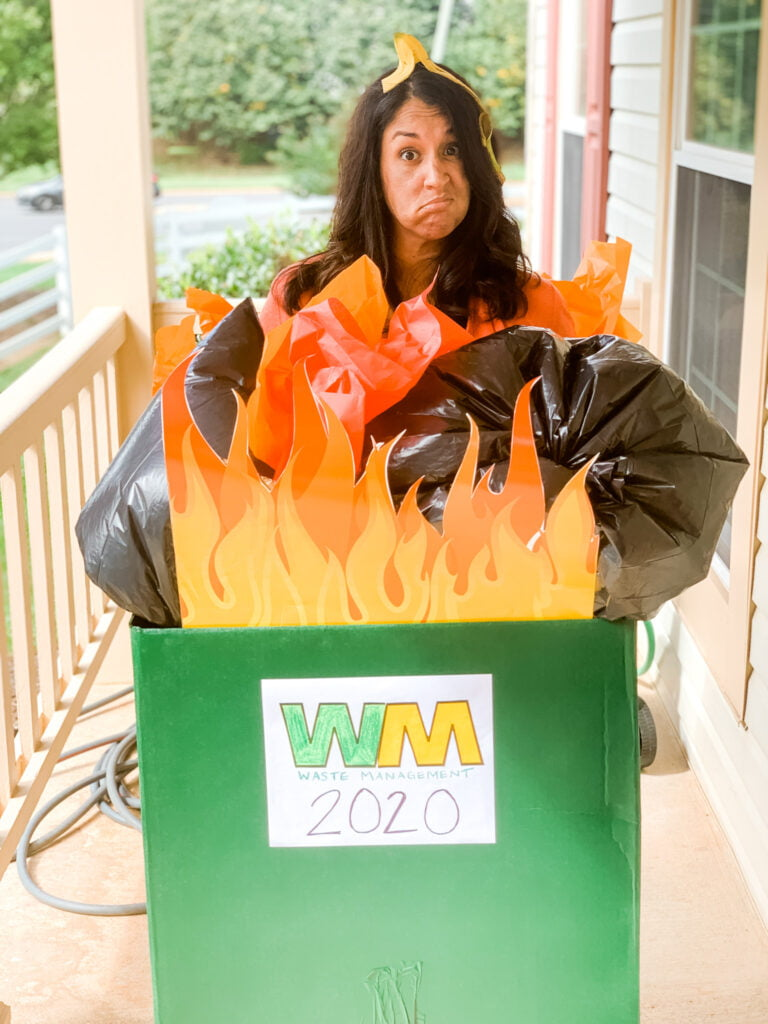 Dumpster Fire Costume