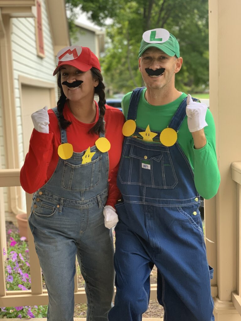 Super Mario Bros Couples Costume