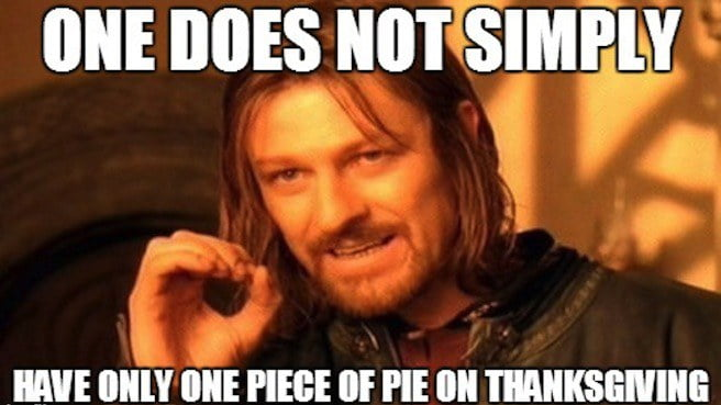Thanksgiving Pie Meme