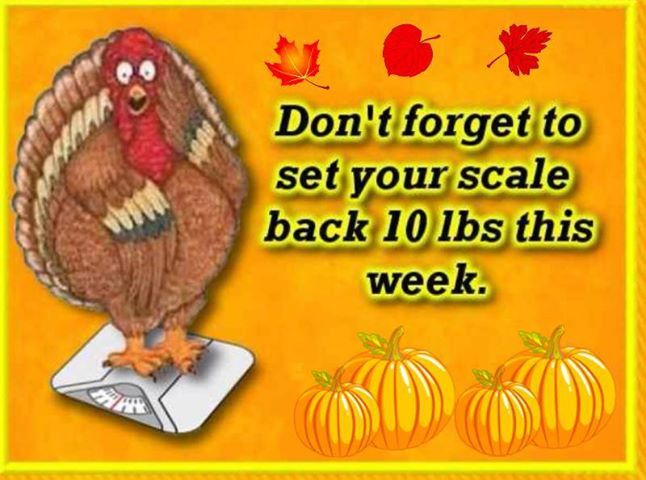 Set Scales Back for Thanksgiving