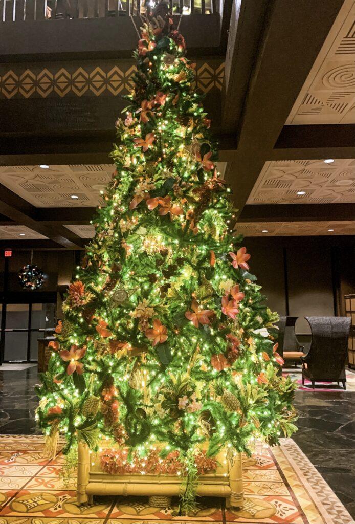Christmas Tree Polynesian Village Resort