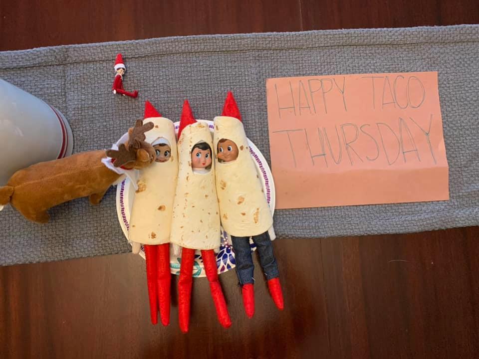 Elf on the Shelf Burrito Idea