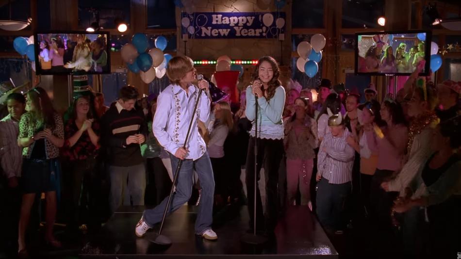High School Musical New Years Eve Scene
