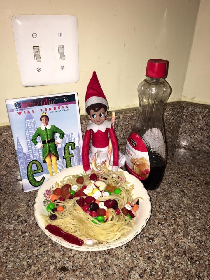Elf Movie with Elf on the Shelf