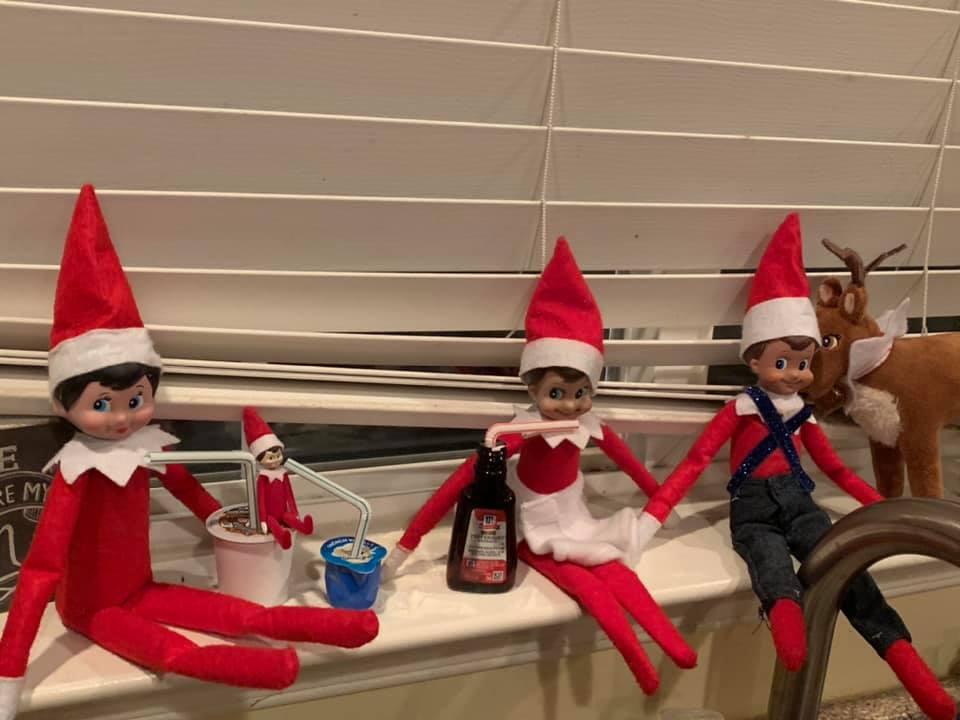Elf on the Shelf Drinking Cocoa