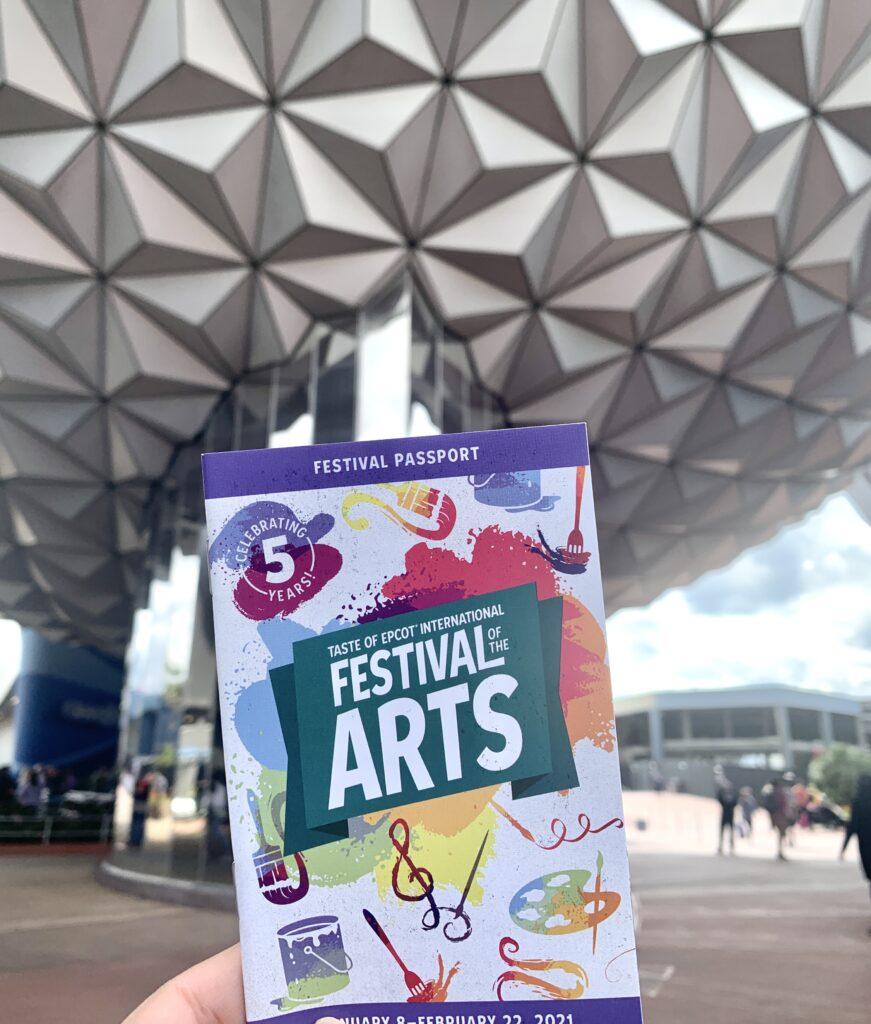 2021 Festival of the Arts Passport Menu