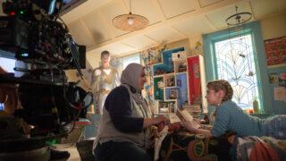 Director Lena Khan and Matilda Lawler