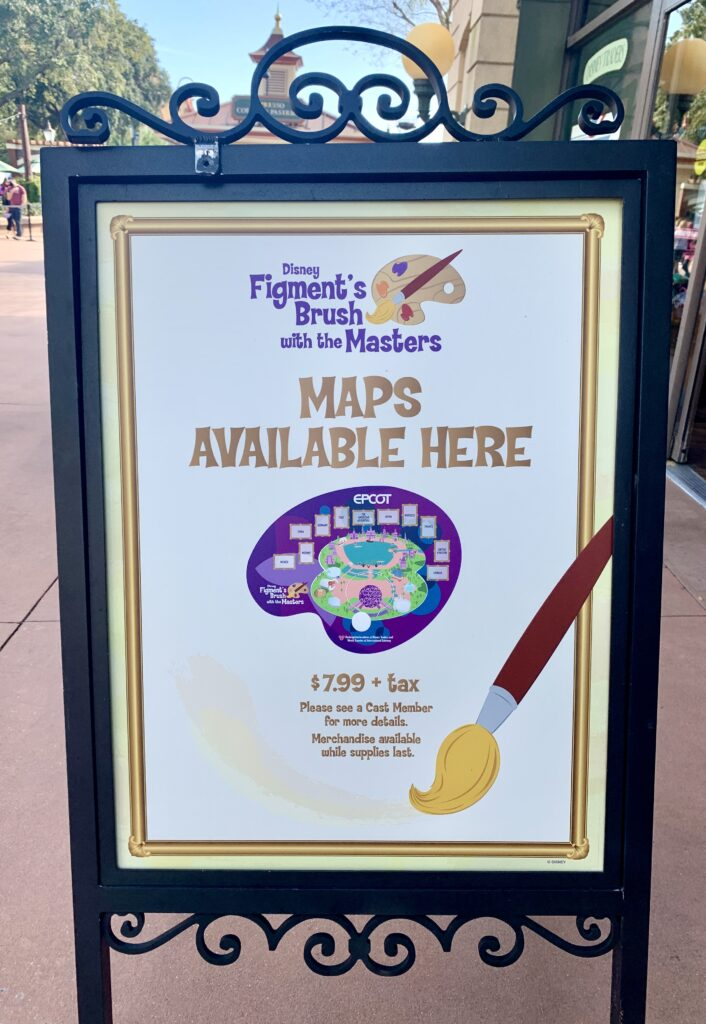 Figment's Brush with the Masters Map locations