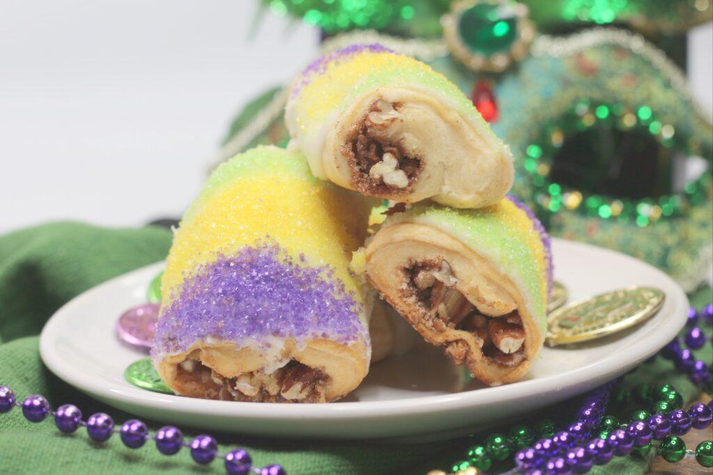 King Cake Bites Mardi Gras