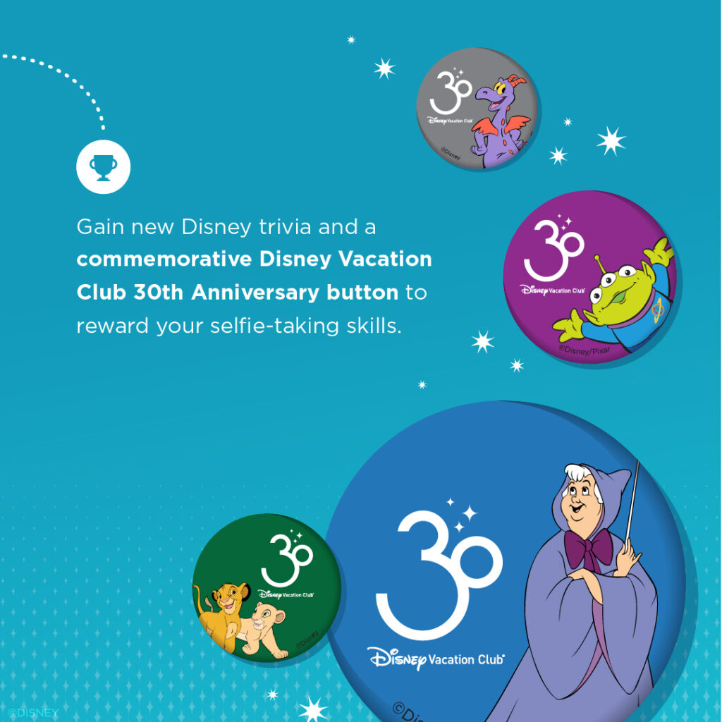 Scenic Selfies Buttons Disney Vacation Club Club