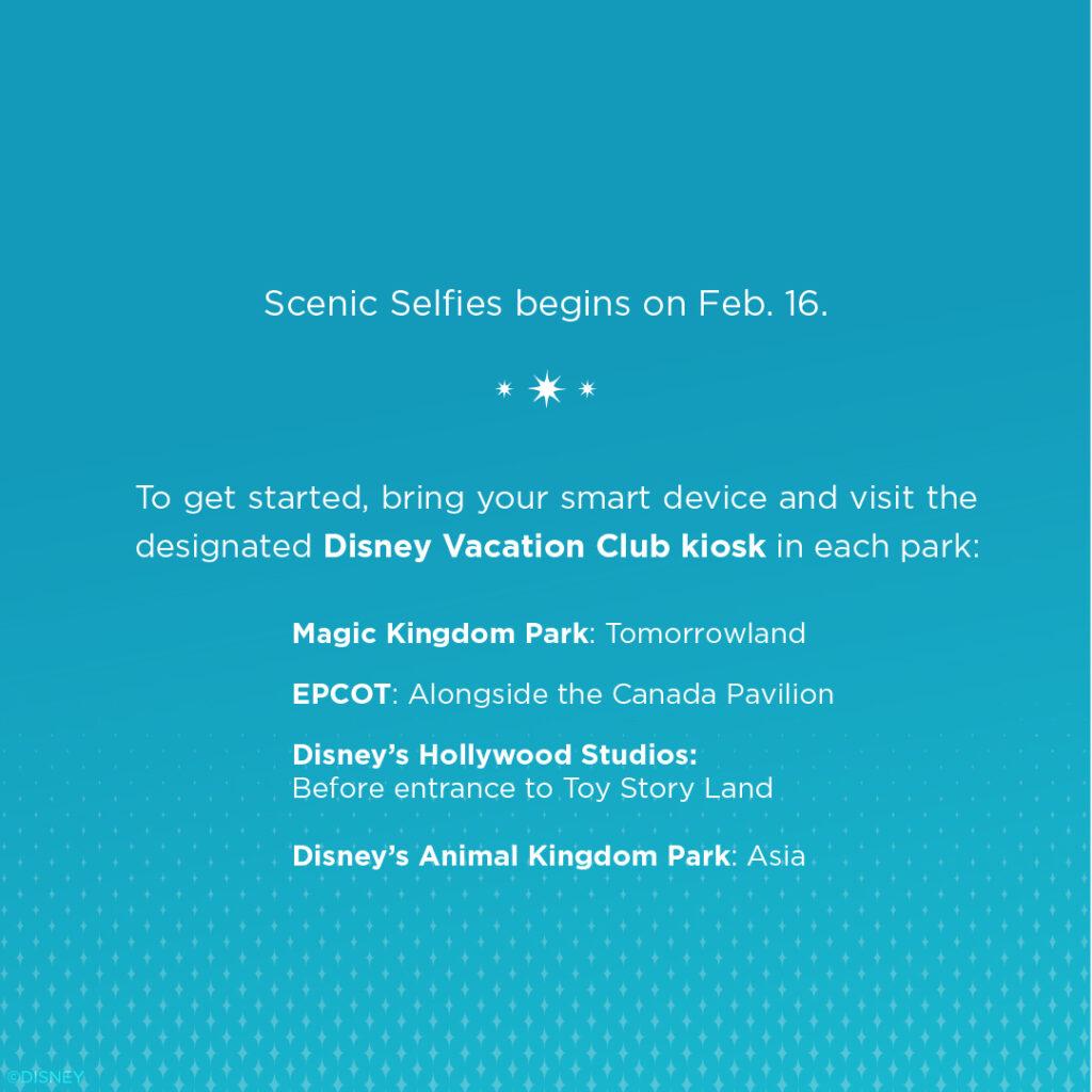 Scenic Selfies Feb 16th Disney Vacation Club