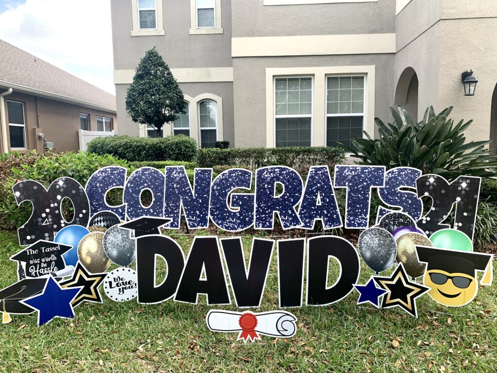 Graduation Yard Cards in Windermere, Florida