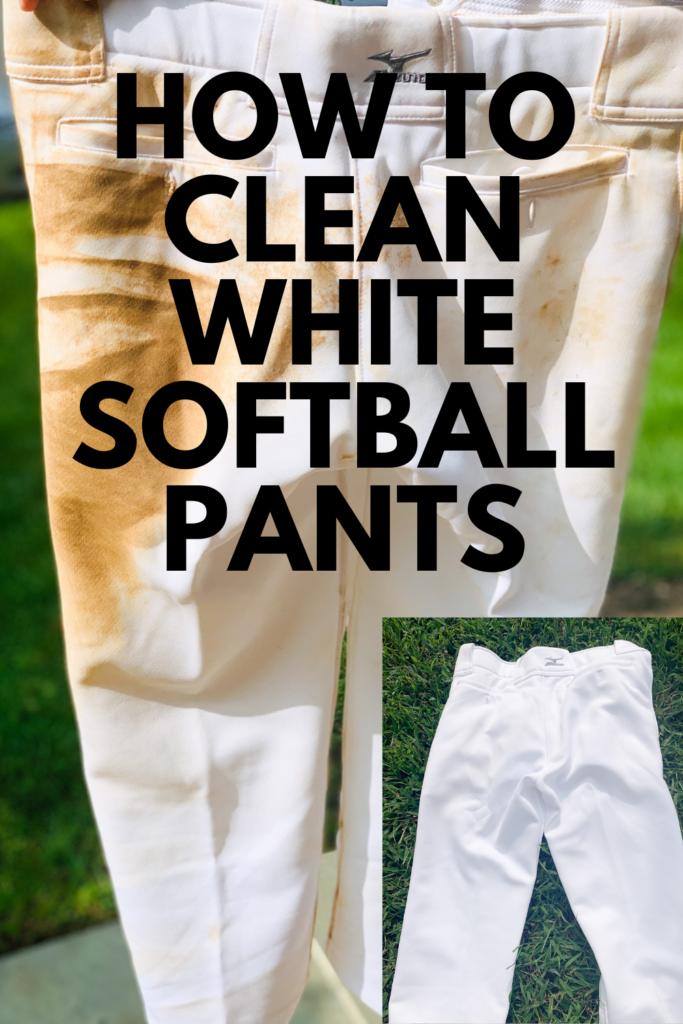 How to Clean White Softball Pants