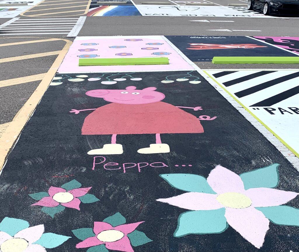 Peppa Pig Senior Parking Spot Idea